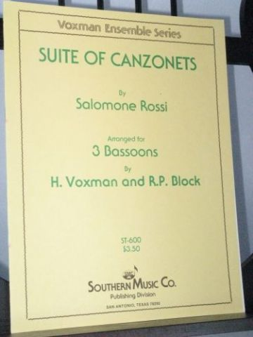 Rossi S - Suite of Canzonets arr Voxman H & Block R P